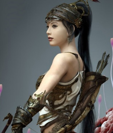 female warriors asian