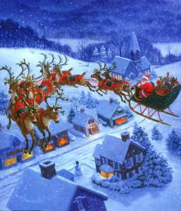 Santa-Claus-and-Flying-Reindeer