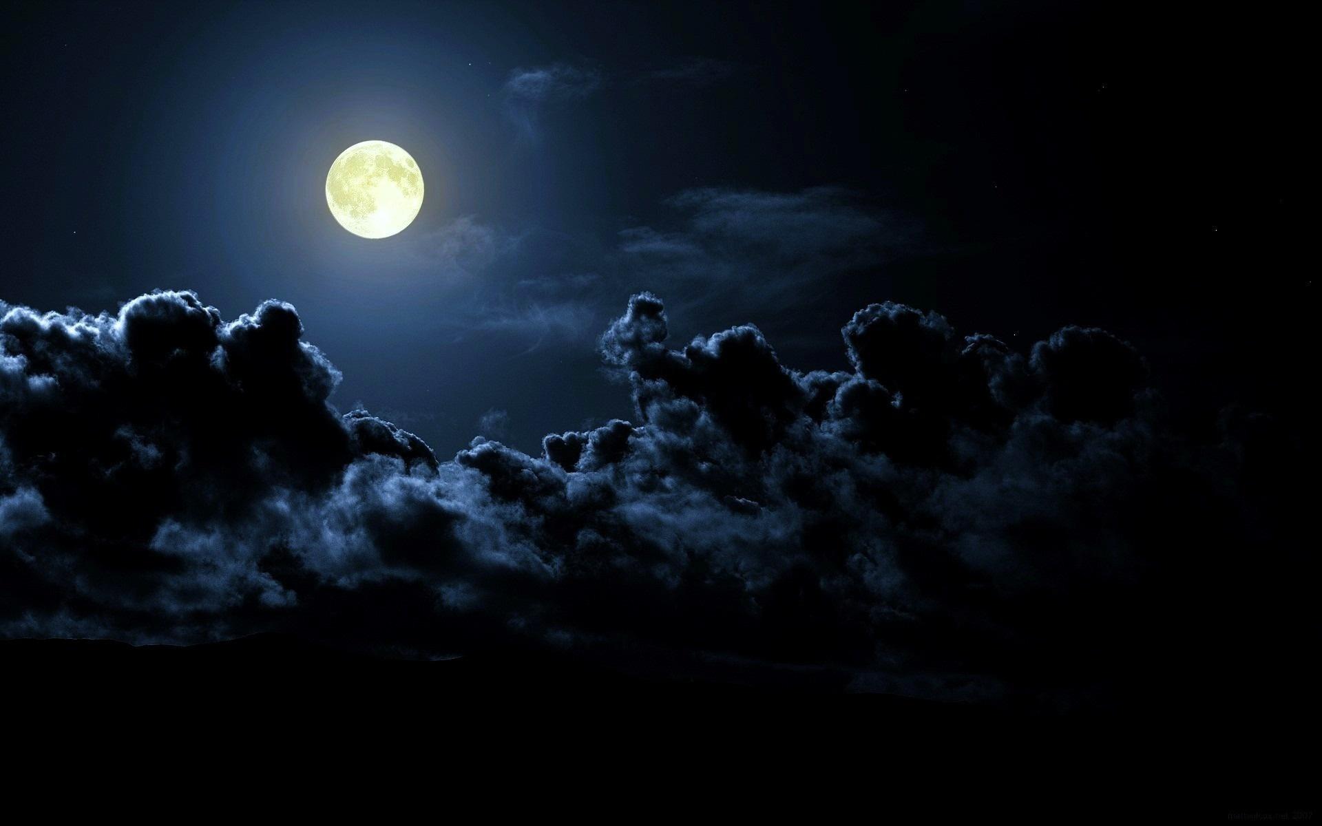 Night Moon Dark Clouds