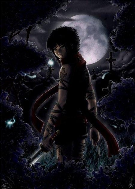 gothic-anime-boy-at-night