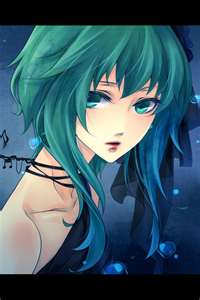 green-hair-anime