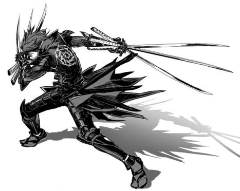 black-and-white-ninjas-katana-samurai-weapons-armor-chrome-monochrome-male-anime-sengoku-basara-date-masamune-simple-background_www-wall321-com_27