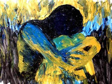 nameless-and-faceless-knife-acrylic-painting-blue-canvas-impressionist-strokes
